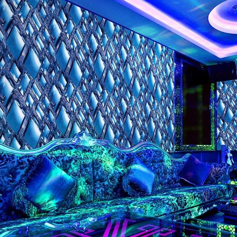 Modern And Simple Diamond Crystal Stunning 3d Wallpaper Background Entertainment Ktv Corridor Box Hd