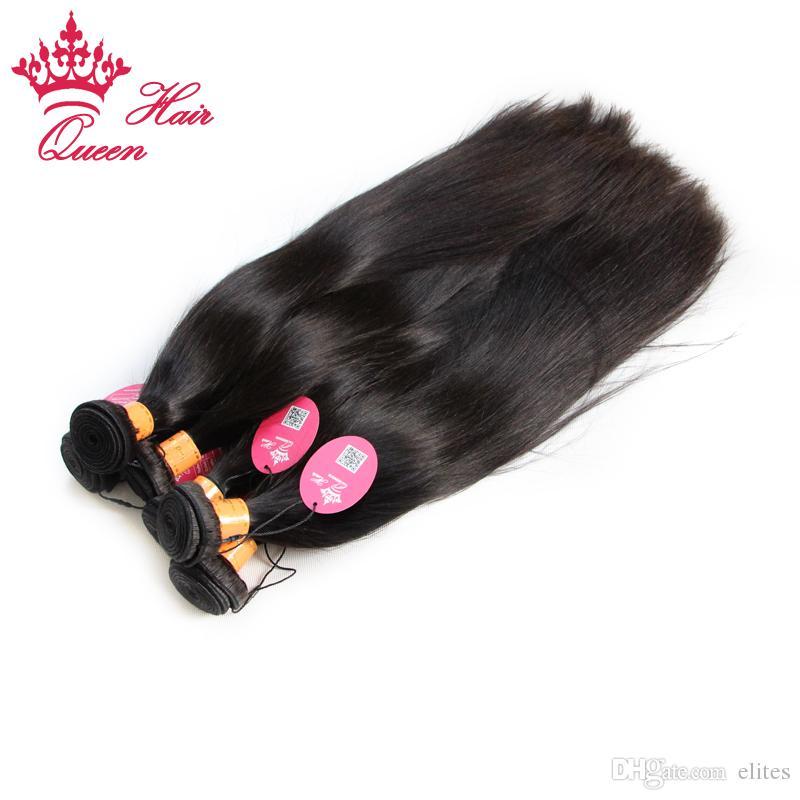 Queen Hair Products Indian Virgin Menselijk Hair Extensions Recht 2 stks / partij Hot Selling met verzending GRATIS