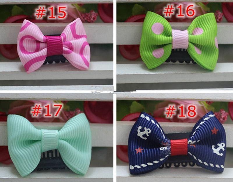 Newborn Bow Clips Infant Cute Polka dot Printed Mini Small Hair Clips Baby Girls Hairpins Little Hair Accessories