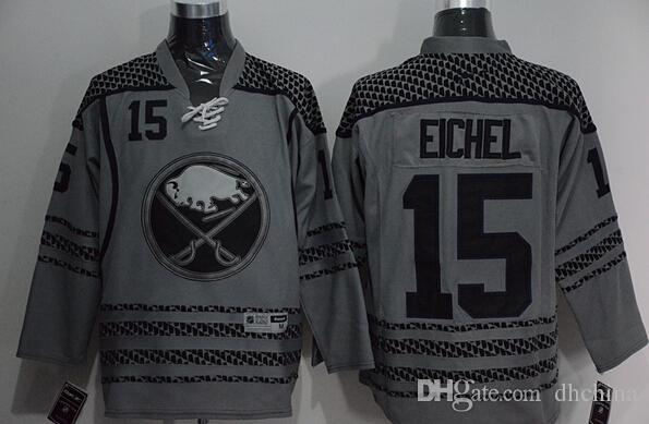 2015 New Hockey Jerseys Sabres  15 Eichel Jersey Charcoal Cross ... 1e8b0c30b