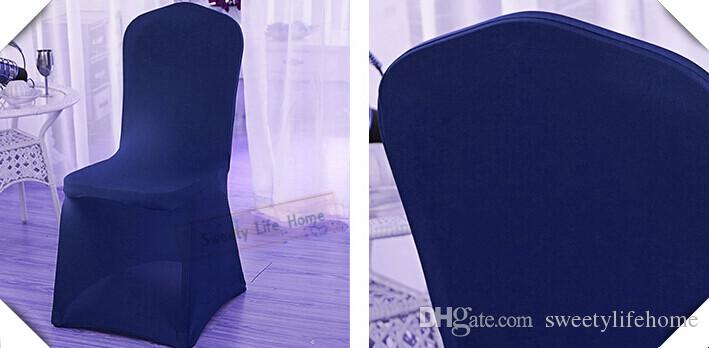 Navy Blue Lycra Banquet Covers Stretch Chair Cover Wedding Spandex