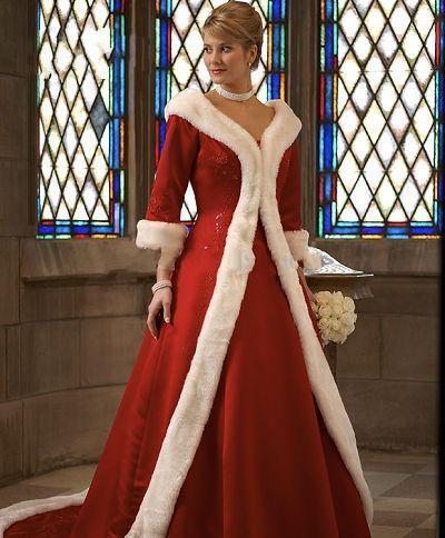 Heiße Neue Lange Ärmel Mantel Winter Ballkleid Brautkleider Rot Warme Abendkleider Für Frauen Pelz Applikationen Weihnachten Kleid Jacke Braut