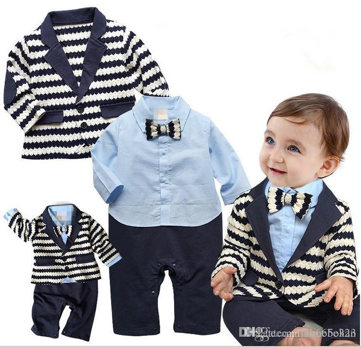 30d29840e 2019 Two Piece Suit 2018 New Newborn Long Sleeve Cotton Gentleman ...