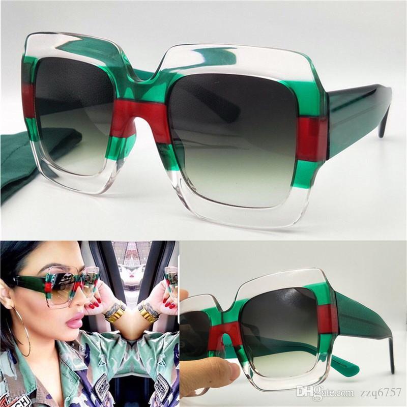 837cee602f75 New Fashion Designer Women Sunglasses 0178 Square Multi-color Frame ...