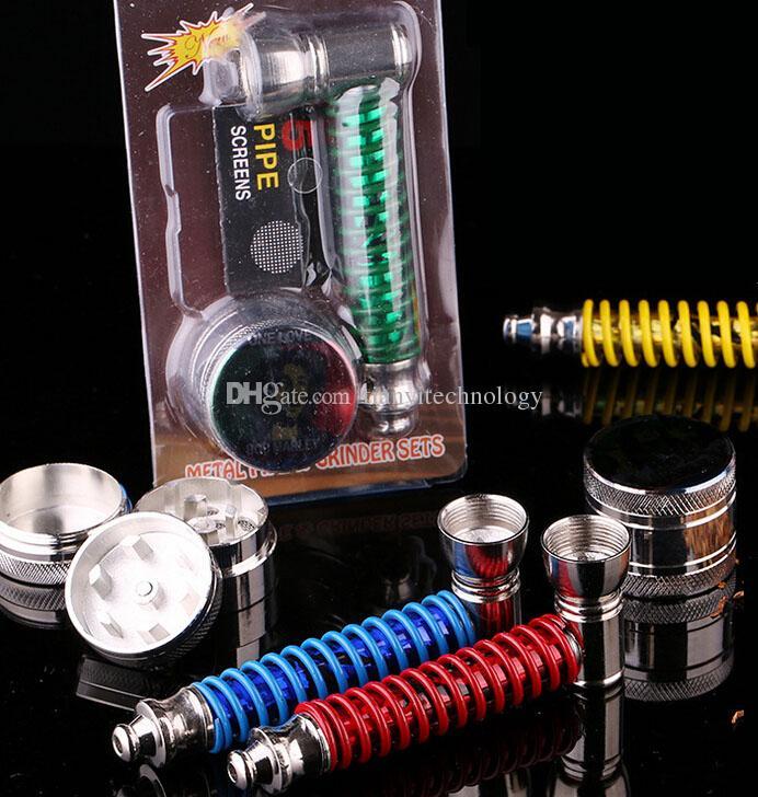 Mini Cigarette Tobacco Smoking Pipe set Herbal Herb Grinder eeth filter Net Dry Herb Vaporizer Pen Vaporizer Vapor E Cig