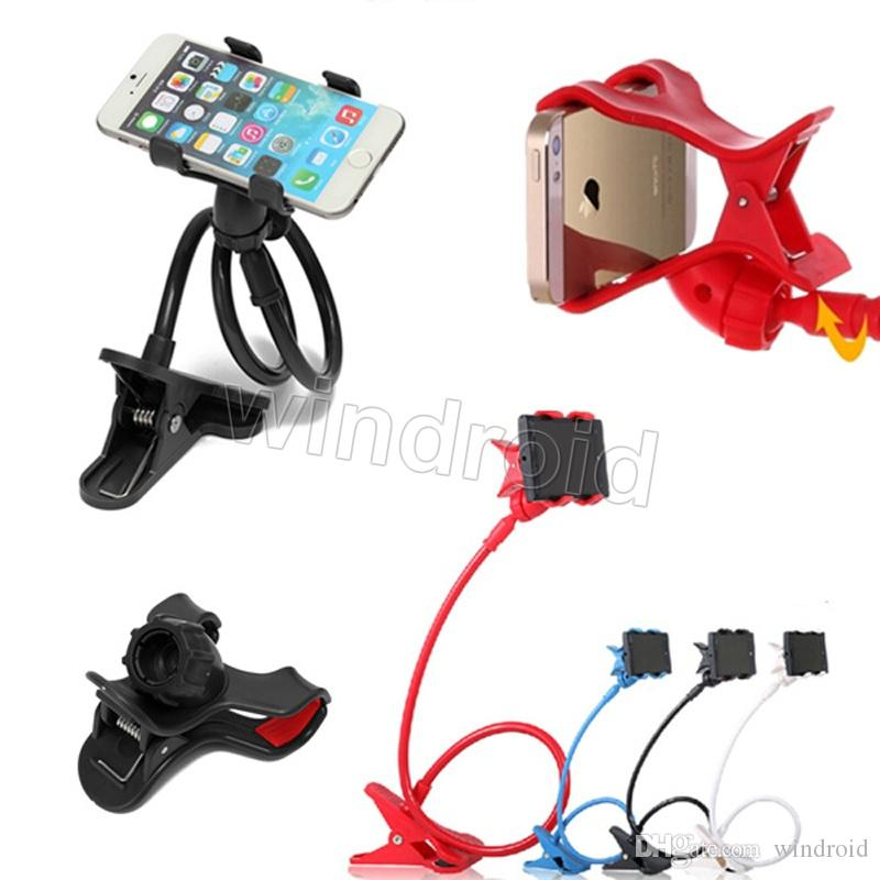 Durable Flexible Long Arms Lazy Bed Desktop Mobile Phone Holder Bracket Stands for Iphone6 6plus 5s Samsung 3-7inch 12cm for Smartphone DHL