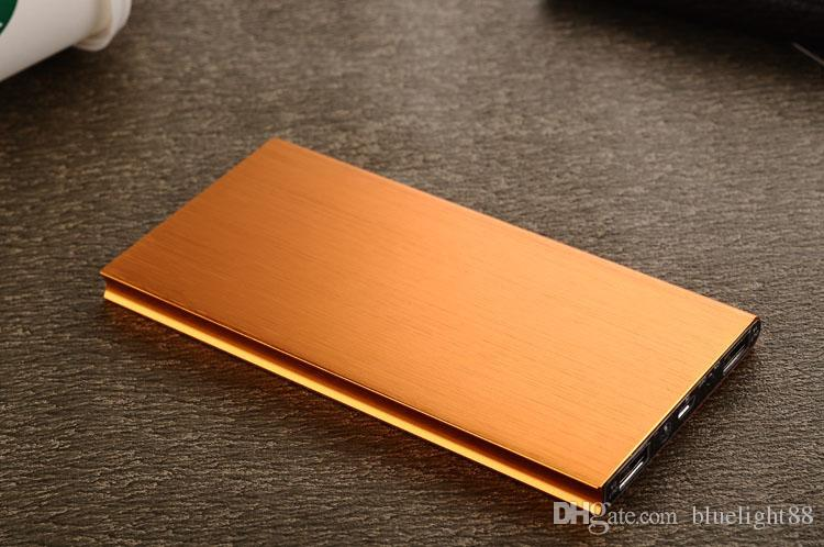 휴대 전화 안드로이드 휴대폰 충전기를위한 초박형 12000mAH 전원 은행 배터리 안전 USB 충전기 비상 사태 무료 배송