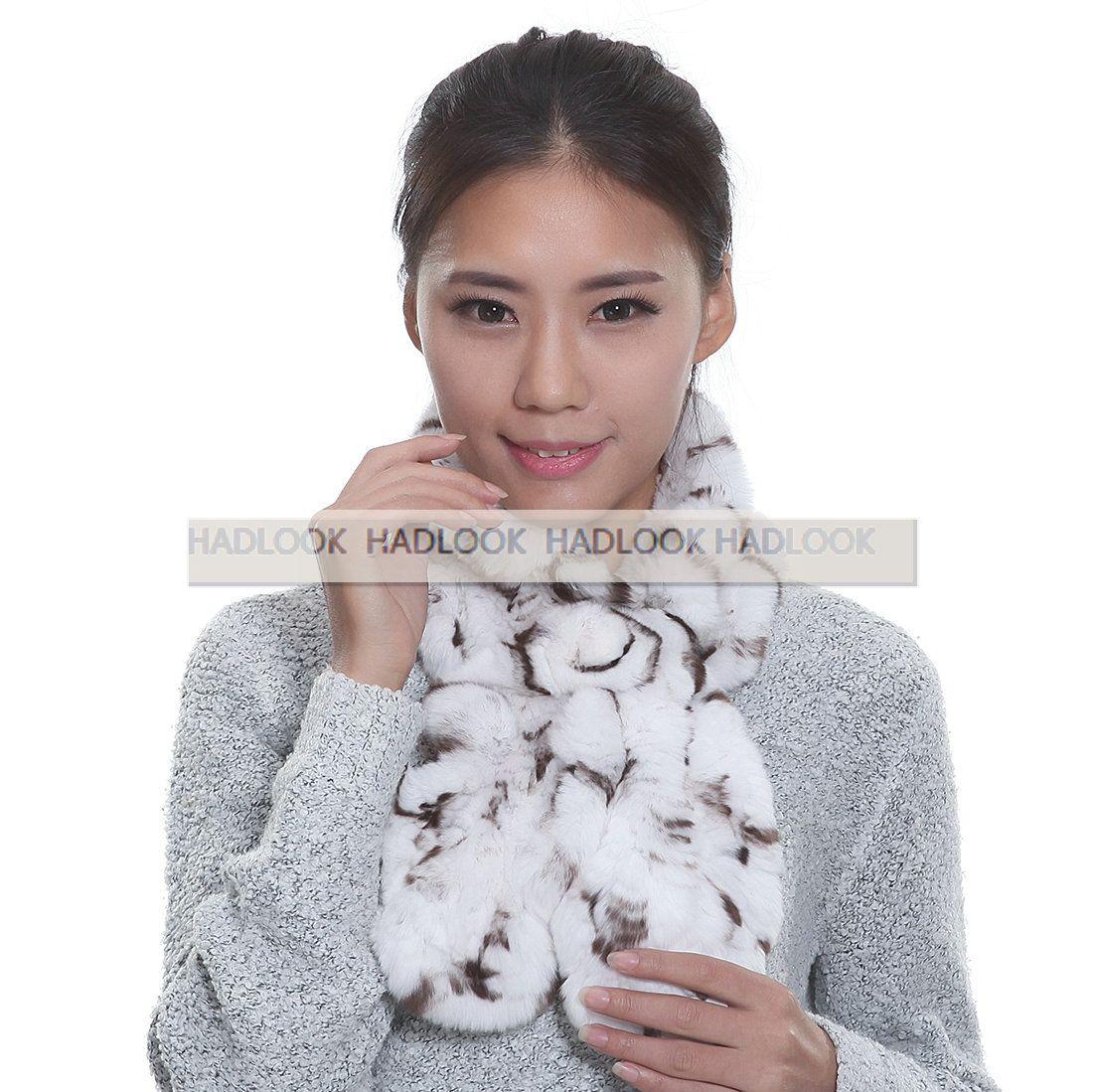 Rabbit Fur Scarf Women's Girl's Ring Scarf Scarves Wrap Shawls Warm Knitted Neck Autumn Winter Fashion