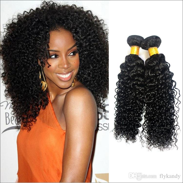 Deep Curly Wavy Indian Virgin Hair Sew In Weftunprocessed All