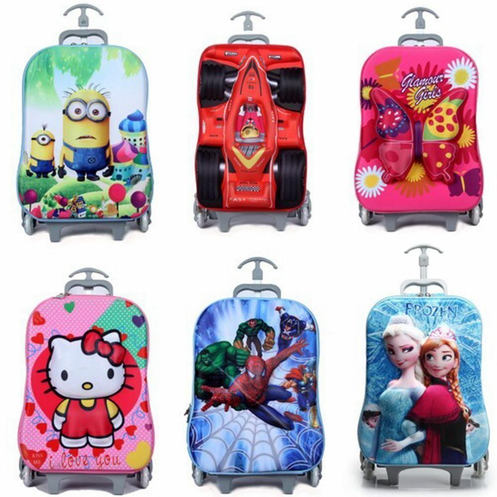 Hot Sale Brand New Fashion 3d Cartoon Trolley Bag Kids School Bags ...