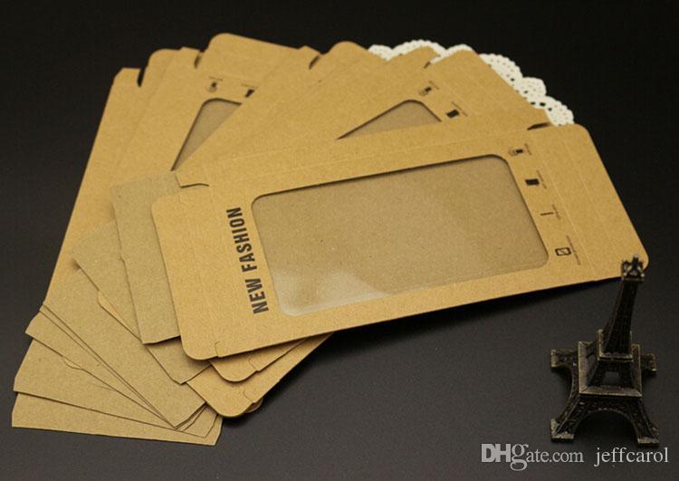 Promozione Carta kraft con imballaggio al dettaglio vuoto con vassoio interno Imballaggio iPhone 6 Custodia rigida in pelle Samsung Galaxy s4 s5