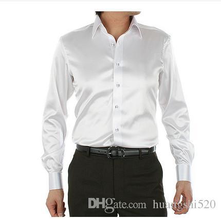 2016 Men's dress Popular lapel long-sleeved shirt Men's long sleeve wedding the groom wedding shirt best selling