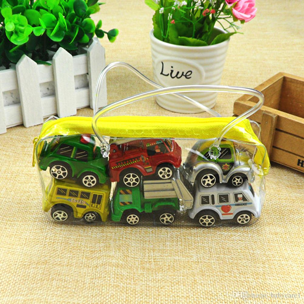 Pull Back Car Toys Car Children Racing Car Baby Mini Cars Cartoon Pull Back Bus Truck Kids Toys For Children Boy Gifts