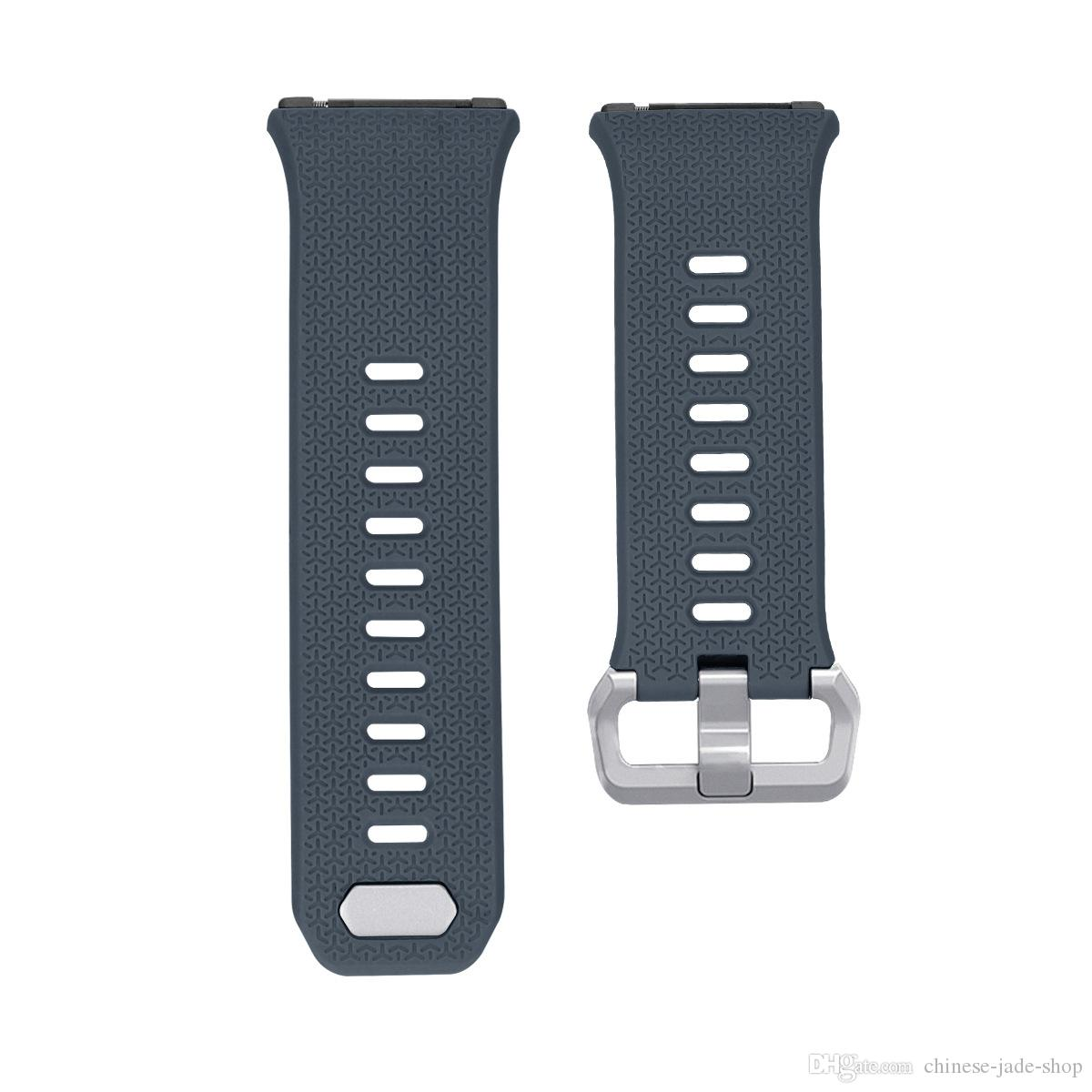 For Fitbit ionic Wrist Wearables TPE Silicone Straps Band Watch Classic Replacement bands /L