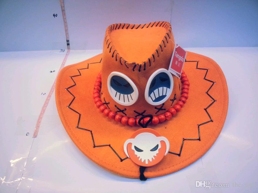 2015 cute cartoon leagure of legend LOL anime ACE orange cowboy Hats Cartoon Cosplay hat as gift