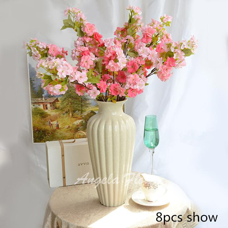 Discount Hi Q Cherry Blossom Flower Decoration Wedding Hotel Living Room  Vase Artificial Sakura Mix Silk Flowers From China | Dhgate.Com Part 98