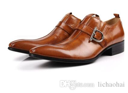 Black casual dress shoes for men