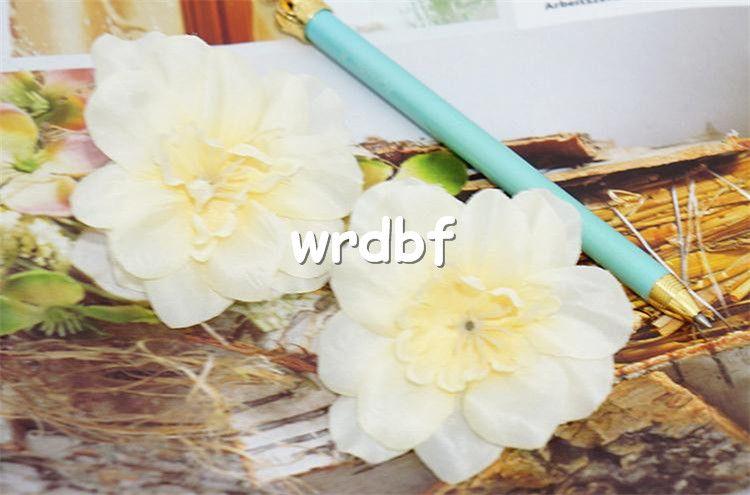 Diadema de seda tragos flor cabeza dia. 7 cm / 2.76