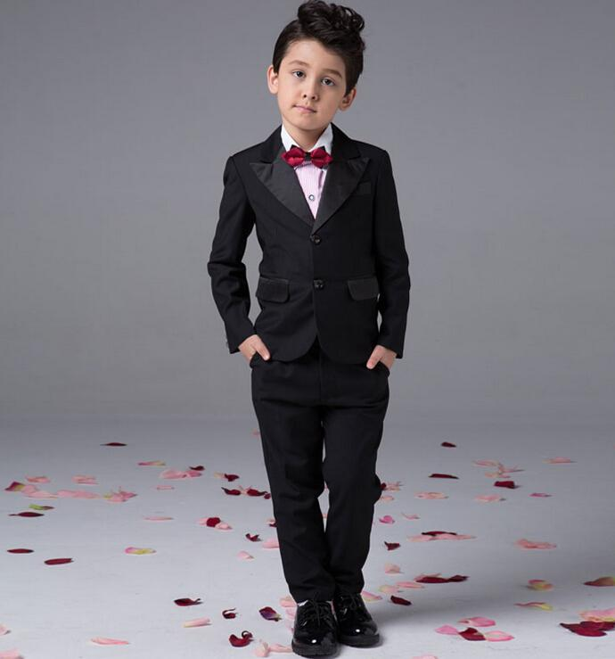 Black Color Boy Suits For Wedding New Style Boy Suits Formal Occasion Boy Suits Fashion ...