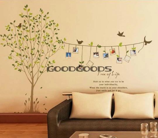 New Diy Wall Sticker Mural Home Art Decor Cartoon Animal Tree Bird - Schlafzimmer la vida