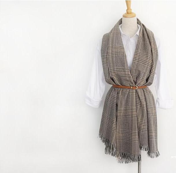 nouveau 2016 Lady Femmes Écharpe Couverture Tartan Écharpe Wrap Châle Plaid Cozy Vérifié Pashmina l'automne et l'hiver