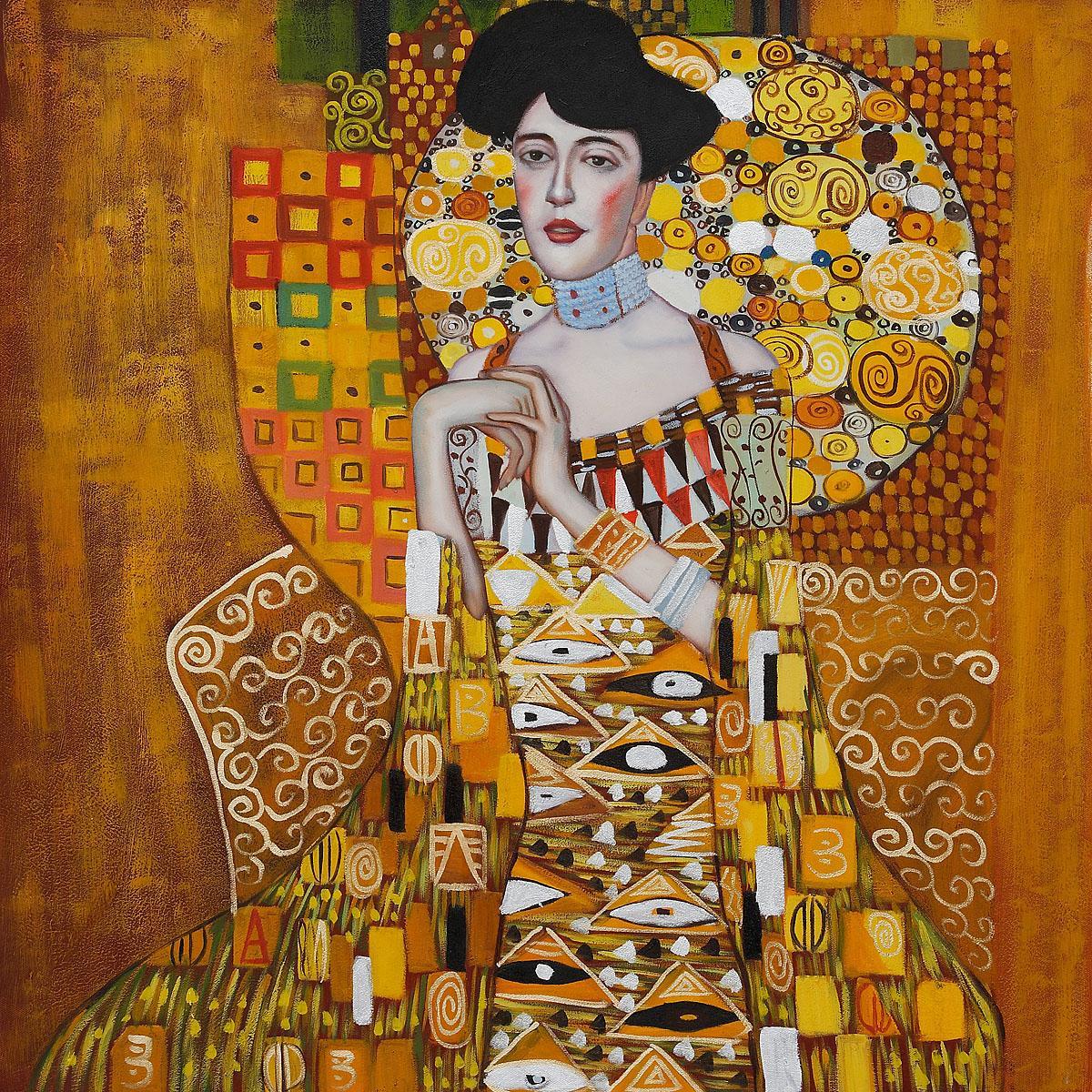 portrait of adele bloch bauer i gustav klimt painting for sale