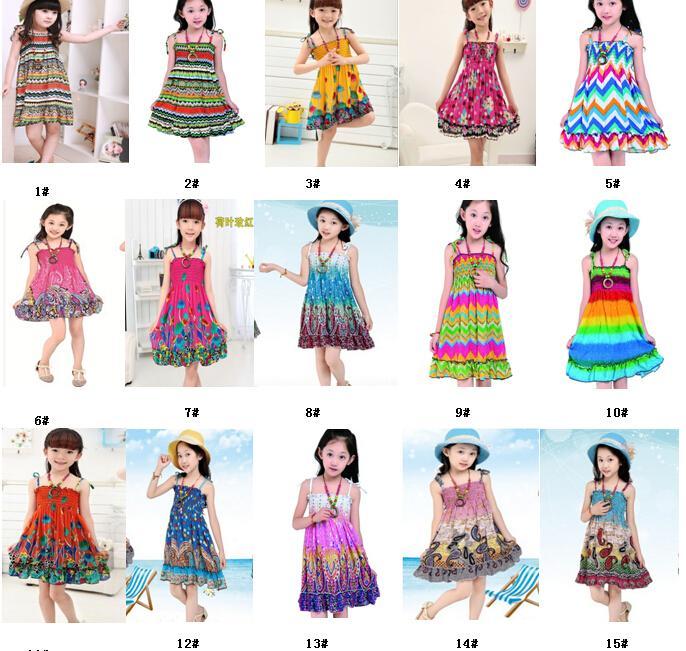 a8a4e31c57c4 2019 2 10 Age New Kids Girls Dresses Fashion Knee Length Beach Dresses  Summer Sleeveless Bohemian Girls Dresses Free Gift From Choicegoods521