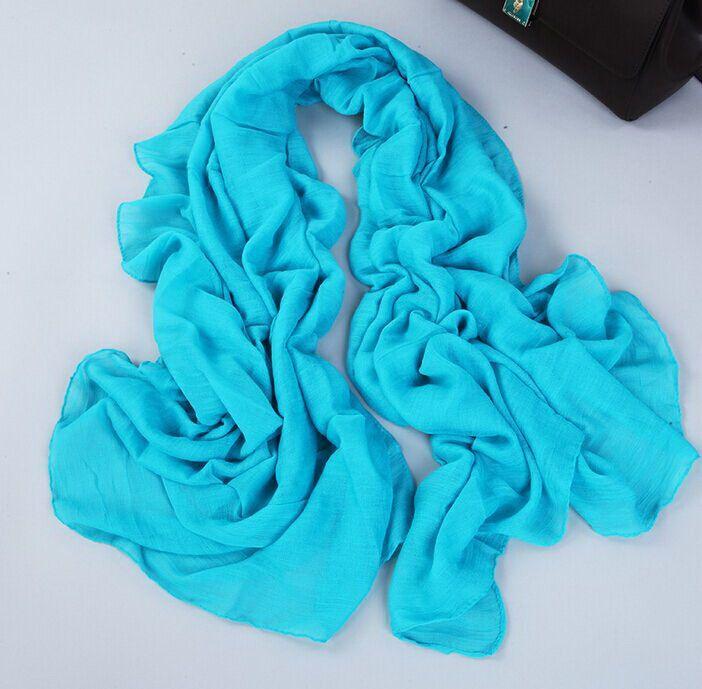girl women solid plain cotton linen feeling polyster Scarf Scarves Stole Neckerchief 180*90cm #3982