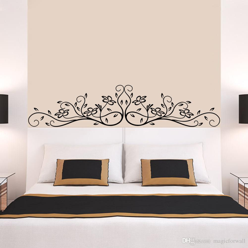 New arrival black flowers rattan wall art mural decor sticker new arrival black flowers rattan wall art mural decor sticker fashion headboard wall graphic poster decal bedside wall applique home decal stickers home amipublicfo Gallery