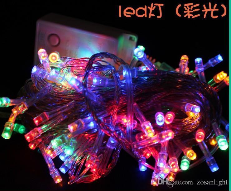الصمام سلسلة الأنوار زينة الزفاف حزب مهرجان داخلي 10M الصمام سلسلة الأنوار الملونة 220V 110V عيد الميلاد سلسلة إضاءة السنة الجديدة