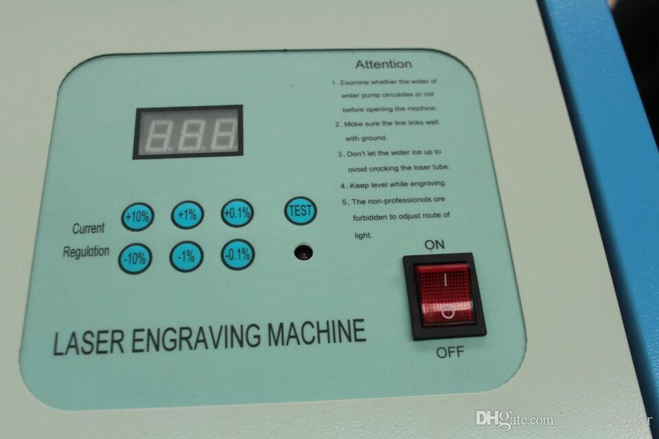 KL-320-40W 300x200mm мини CO2 лазерная гравировка резки гравировальный станок гравер 110V / 220v USB резак для мобильного телефона протектор экрана