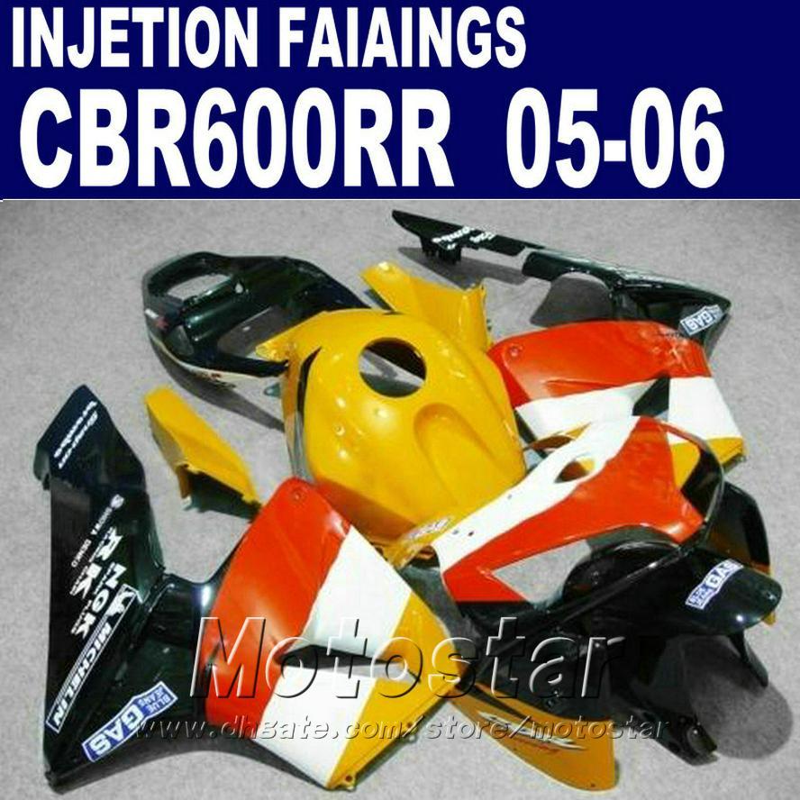 Popüler sarı uygun! 2005 2006 cbr600rr 05 06 cbr 600rr kaporta GS8C kaporta HONDA CBR 600 RR için Enjeksiyon Kalıplama