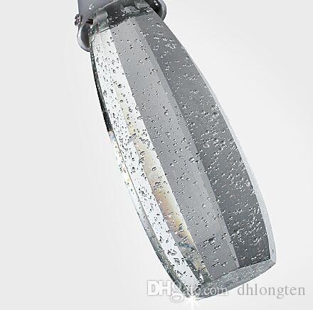 Luce di pendente moderna della bolla delle luci di cristallo di trasporto con le lampadine G4- Ombra artistica Illuminazione di lampadario a teste singole