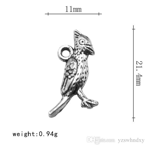 Factory Outlet Single-side Popular Animal Cardinal DIY Charm Jewelry