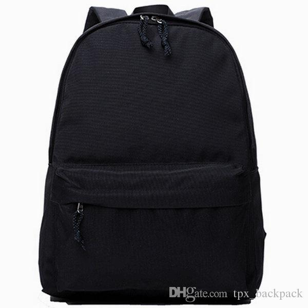 Black Backpack Muji Found Day Pack Free Style Pure School Bag Casual Blank  Packsack Quality Rucksack Sport Schoolbag Outdoor Daypack Gregory Backpacks  Army ... 8e974ccc16