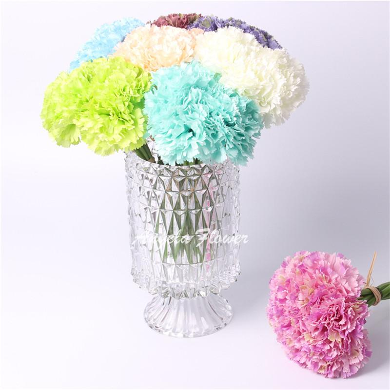 Hot 21cm carnation DIY wedding home monther's day decoration Artificial real look silk flower decoration flower