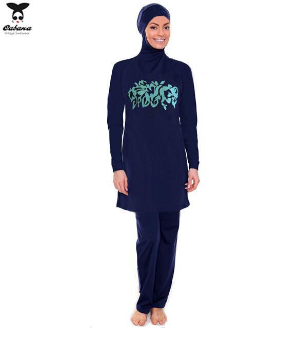 Compre 2015 Más El Tamaño S XXXL Mujeres Traje De Baño Musulmán De Alta  Calidad Cobertura Completa Swim Wear Modest Señoras Muslimah Traje De Baño  Traje De ... 94ebd9265871