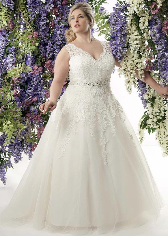 Discount Sexy Plus Size A Line Lace Wedding Dresses 2015 New White