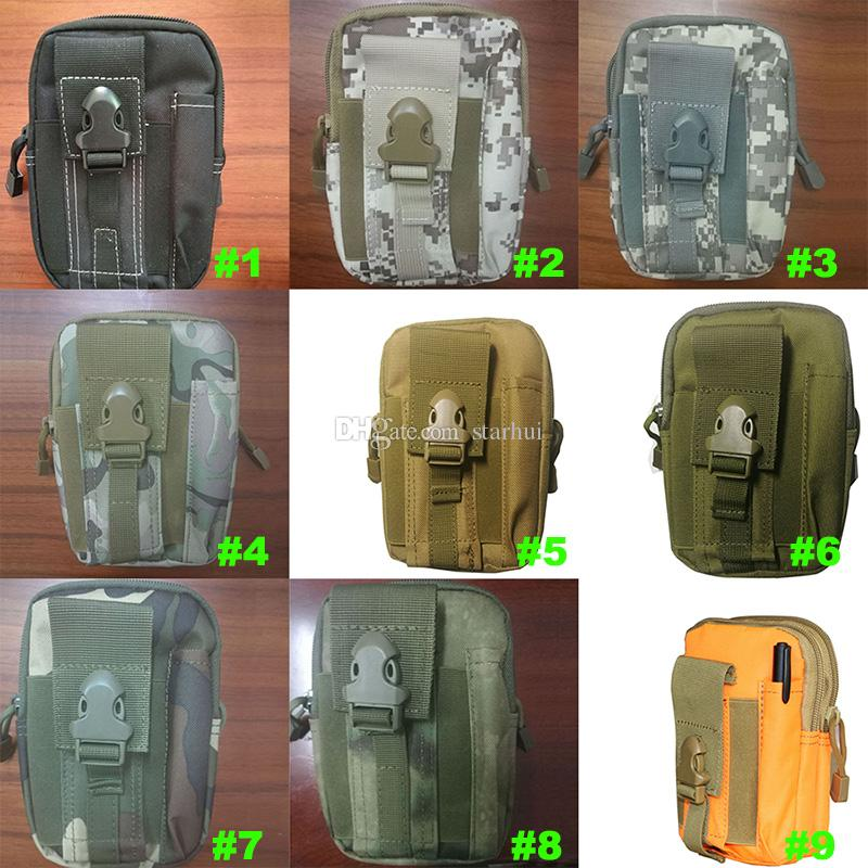 Home Outdoor Sports Tactical Bags Pockets Waist Bag Sport Running Mobile Phone Case Purse Pack Gadget Pocket WX9-166