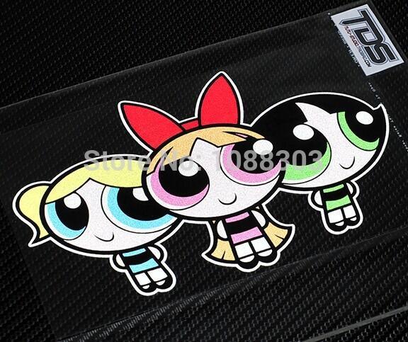 Powerpuff Girls Car Sticker Decals Car Styling Modified Car - Car sticker decal for girls
