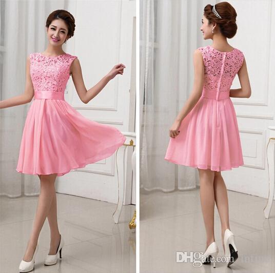 Großhandel Heiße Verkäufe Vestidos De Fiesta Rosa Weiße Chiffon ...