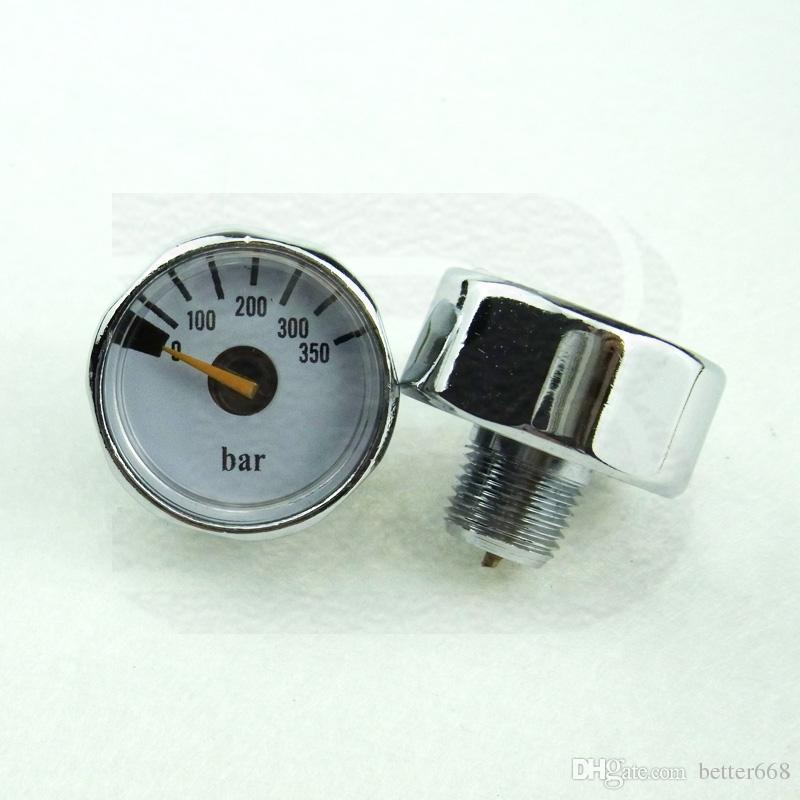 New Paintball PCP Mini Medidor Manometre manômetro 350Bar Masculino 1 / 8NPT Tópico -Silver