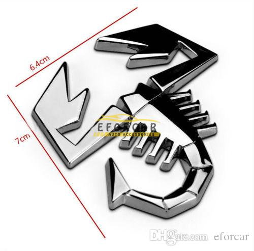 Metal 3D Scorpion Personalized Car Truck Emblem Badge Logo Sticker Silver