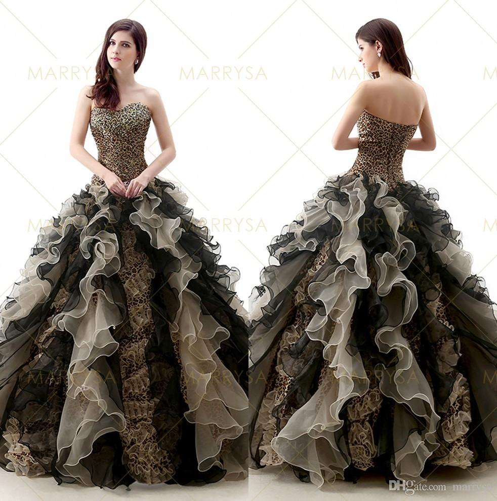 2015 Ball Gown Wedding Quinceanera Dresses Cascading Ruffles ...