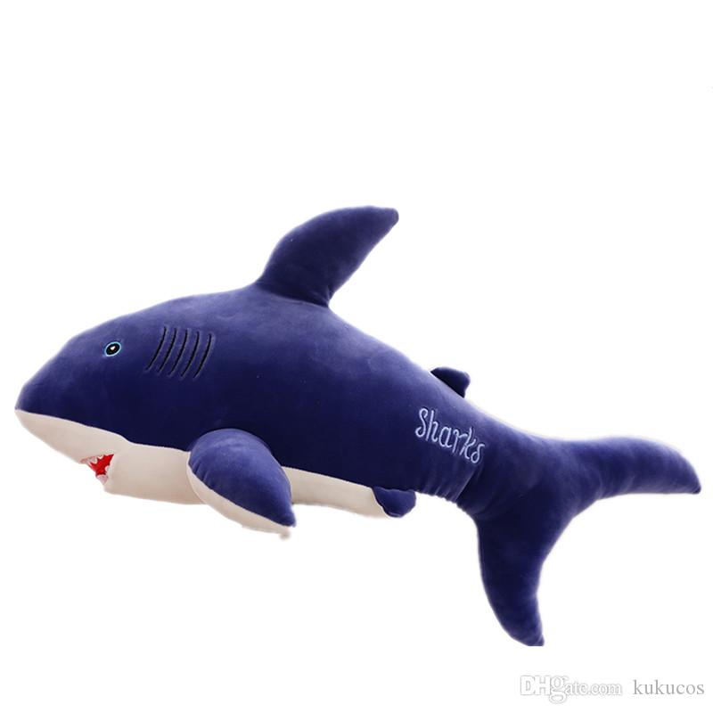 2019 Kukucos Large Shark Doll Plush Toy White Dolphin Whale Pillow