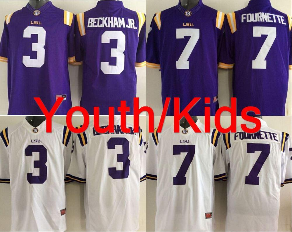 2019 Factory Outlet 2015 2016 New Style Youth Mens LSU Tigers NCAA College  Football Jersey Kids  3 Odell Beckham JR Jersey  7 Leonard Fournette From  ... 0be0a9c68