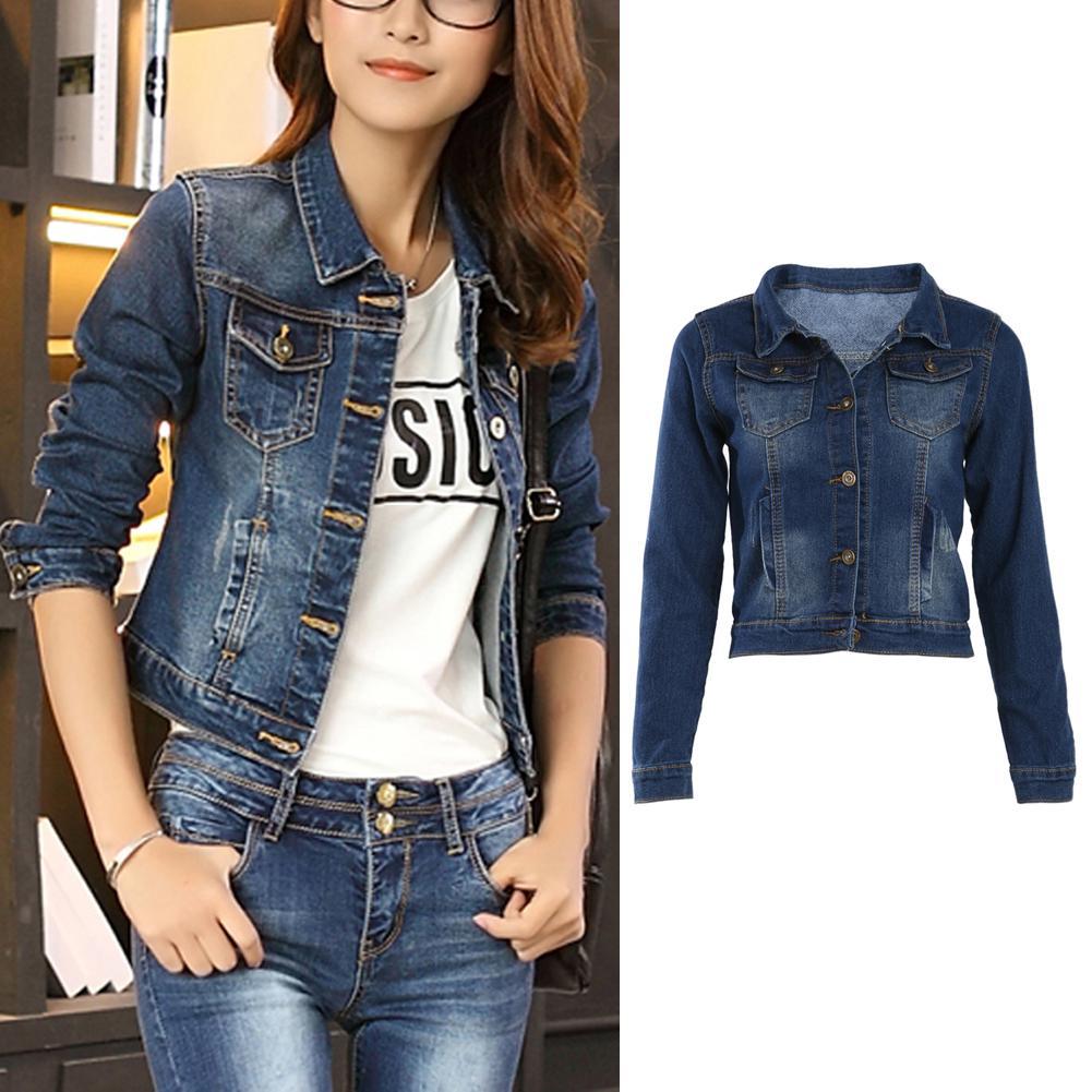 0df3445c1a Compre Atacado Mulheres Denim Jaquetas Curtas Jaquetas Curtas Jeans Vintage  Casuais Jaqueta Jeans Para As Mulheres Outerwear Jeans Feminino Ripped M XL  De ...