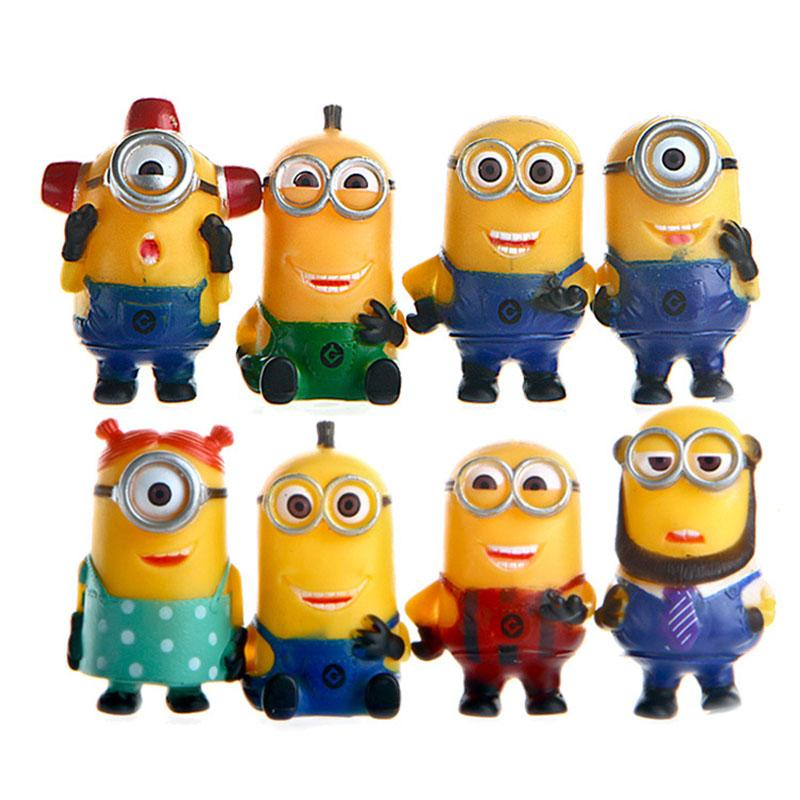 2018 Despicable Me 2 Minion Character Display Figures Kid Toy Cake