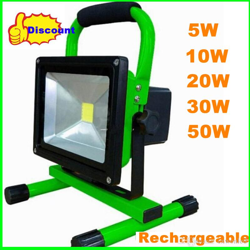 moq 20w cob led floodlight charge flood light waterproof ip65 110 240v 1800lm portable high power lamp for outdoor outdoor flood light fixture