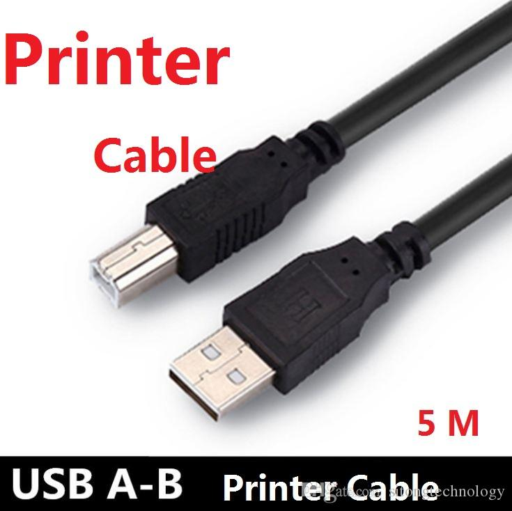 Usb 2.0 High Speed Cable Printer Lead A To B Long Black Shielded ...